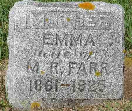 FARR, EMMA - Minnehaha County, South Dakota   EMMA FARR - South Dakota Gravestone Photos