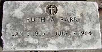 FARR, RUTH A. - Minnehaha County, South Dakota   RUTH A. FARR - South Dakota Gravestone Photos