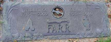 FARR, WILLIS O. - Minnehaha County, South Dakota | WILLIS O. FARR - South Dakota Gravestone Photos