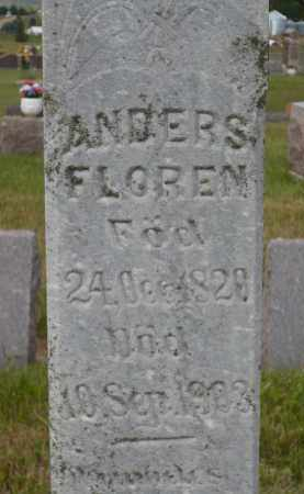 FLOREN, ANDERS (CLOSE UP) - Minnehaha County, South Dakota   ANDERS (CLOSE UP) FLOREN - South Dakota Gravestone Photos