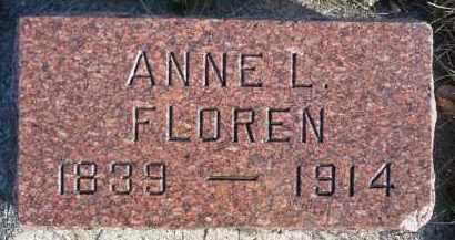FLOREN, ANNE L. - Minnehaha County, South Dakota | ANNE L. FLOREN - South Dakota Gravestone Photos