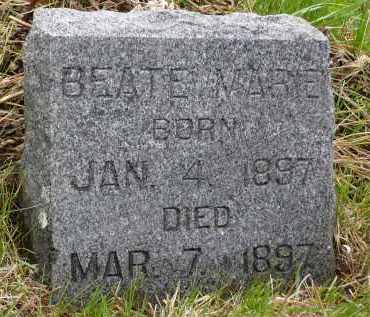FLOREN, BEATE MARIE - Minnehaha County, South Dakota   BEATE MARIE FLOREN - South Dakota Gravestone Photos