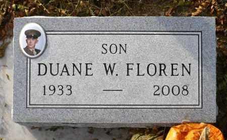 FLOREN, DUANE WILLIS - Minnehaha County, South Dakota | DUANE WILLIS FLOREN - South Dakota Gravestone Photos