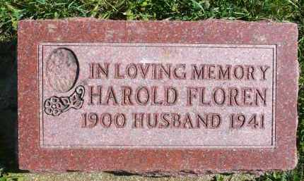 FLOREN, HAROLD - Minnehaha County, South Dakota | HAROLD FLOREN - South Dakota Gravestone Photos