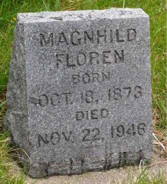 FLOREN, MAGNHILD - Minnehaha County, South Dakota | MAGNHILD FLOREN - South Dakota Gravestone Photos