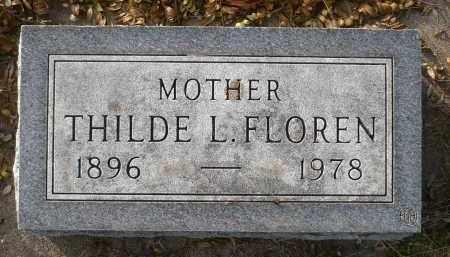 FLOREN, THILDE LOUISE - Minnehaha County, South Dakota   THILDE LOUISE FLOREN - South Dakota Gravestone Photos
