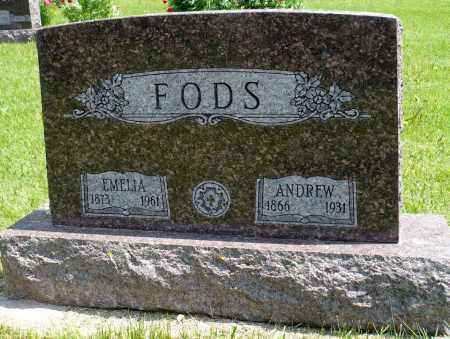 FODS, ANDREW - Minnehaha County, South Dakota   ANDREW FODS - South Dakota Gravestone Photos