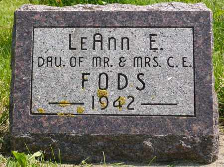 FODS, LEANN E. - Minnehaha County, South Dakota | LEANN E. FODS - South Dakota Gravestone Photos