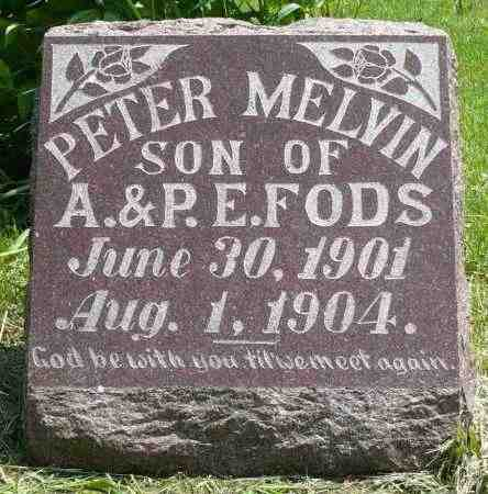FODS, PETER MELVIN - Minnehaha County, South Dakota | PETER MELVIN FODS - South Dakota Gravestone Photos