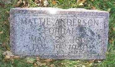 ANDERSON FORDAL, MATTIE - Minnehaha County, South Dakota | MATTIE ANDERSON FORDAL - South Dakota Gravestone Photos