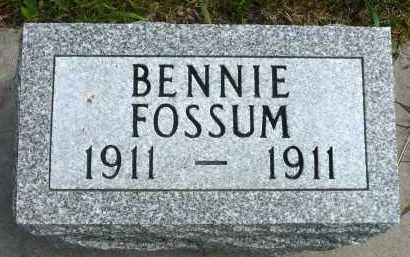 FOSSUM, BENNIE - Minnehaha County, South Dakota | BENNIE FOSSUM - South Dakota Gravestone Photos