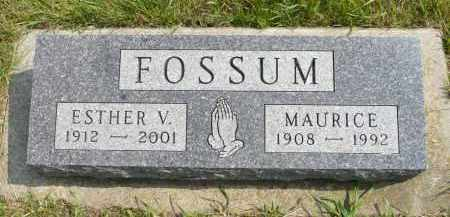FOSSUM, ESTHER V. - Minnehaha County, South Dakota | ESTHER V. FOSSUM - South Dakota Gravestone Photos