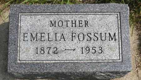 FOSSUM, EMELIA - Minnehaha County, South Dakota | EMELIA FOSSUM - South Dakota Gravestone Photos