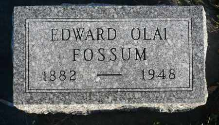FOSSUM, EDWARD OLAI - Minnehaha County, South Dakota | EDWARD OLAI FOSSUM - South Dakota Gravestone Photos