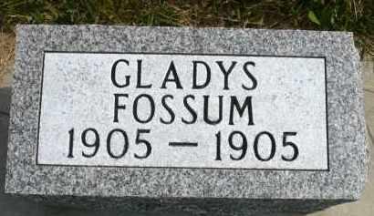FOSSUM, GLADYS - Minnehaha County, South Dakota | GLADYS FOSSUM - South Dakota Gravestone Photos