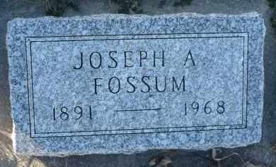 FOSSUM, JOSEPH A. - Minnehaha County, South Dakota | JOSEPH A. FOSSUM - South Dakota Gravestone Photos