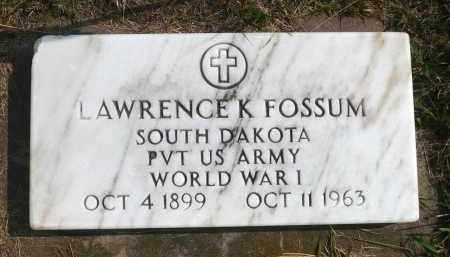 FOSSUM, LAWRENCE K. - Minnehaha County, South Dakota | LAWRENCE K. FOSSUM - South Dakota Gravestone Photos