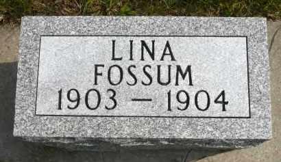 FOSSUM, LINA - Minnehaha County, South Dakota | LINA FOSSUM - South Dakota Gravestone Photos