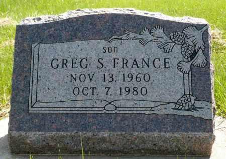 FRANCE, GREGORY SCOTT - Minnehaha County, South Dakota   GREGORY SCOTT FRANCE - South Dakota Gravestone Photos