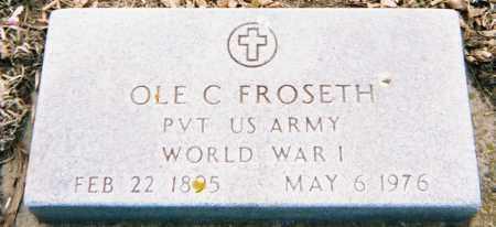 FROSETH, OLE C. (WWI) - Minnehaha County, South Dakota   OLE C. (WWI) FROSETH - South Dakota Gravestone Photos
