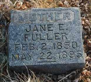 FULLER, JANE E. - Minnehaha County, South Dakota   JANE E. FULLER - South Dakota Gravestone Photos