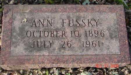 FUSSKY, ANN - Minnehaha County, South Dakota   ANN FUSSKY - South Dakota Gravestone Photos