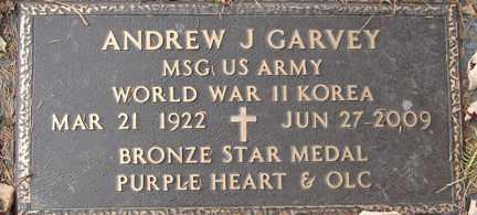 GARVEY, ANDREW J. (WWII - KOREA) - Minnehaha County, South Dakota | ANDREW J. (WWII - KOREA) GARVEY - South Dakota Gravestone Photos