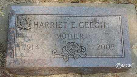 GEEGH, HARRIET E. - Minnehaha County, South Dakota | HARRIET E. GEEGH - South Dakota Gravestone Photos