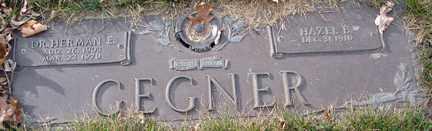 GEGNER, HAZEL B. - Minnehaha County, South Dakota | HAZEL B. GEGNER - South Dakota Gravestone Photos