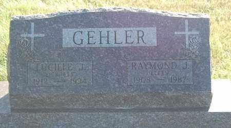 GEHLER, LUCILLE J. - Minnehaha County, South Dakota   LUCILLE J. GEHLER - South Dakota Gravestone Photos