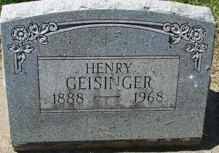 GEISINGER, HENRY - Minnehaha County, South Dakota   HENRY GEISINGER - South Dakota Gravestone Photos
