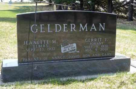 GELDERMAN, JEANETTE M. - Minnehaha County, South Dakota | JEANETTE M. GELDERMAN - South Dakota Gravestone Photos