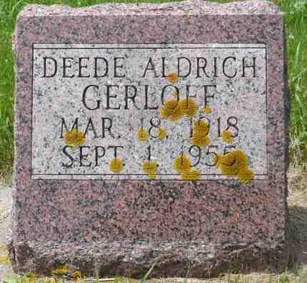 ALDRICH GERLOFF, DEEDE - Minnehaha County, South Dakota | DEEDE ALDRICH GERLOFF - South Dakota Gravestone Photos