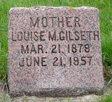 GILSETH, LOUISE M. - Minnehaha County, South Dakota   LOUISE M. GILSETH - South Dakota Gravestone Photos