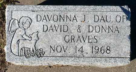 GRAVES, DAVONNA J. - Minnehaha County, South Dakota | DAVONNA J. GRAVES - South Dakota Gravestone Photos