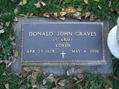 GRAVES, DONALD JOHN - Minnehaha County, South Dakota | DONALD JOHN GRAVES - South Dakota Gravestone Photos