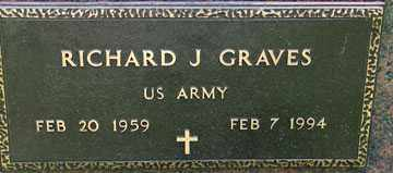 GRAVES, RICHARD J. (MILITARY) - Minnehaha County, South Dakota | RICHARD J. (MILITARY) GRAVES - South Dakota Gravestone Photos