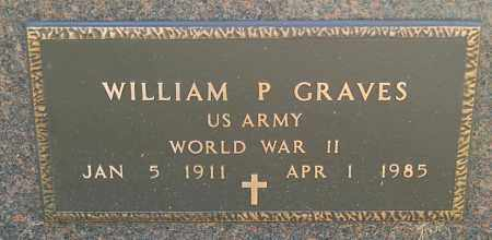 GRAVES, WILLIAM P. (WW II) - Minnehaha County, South Dakota   WILLIAM P. (WW II) GRAVES - South Dakota Gravestone Photos