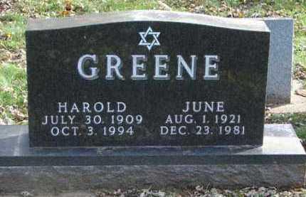 GREENE, JUNE - Minnehaha County, South Dakota | JUNE GREENE - South Dakota Gravestone Photos