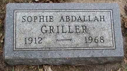 ABDALLAH GRILLER, SOPHIE - Minnehaha County, South Dakota | SOPHIE ABDALLAH GRILLER - South Dakota Gravestone Photos