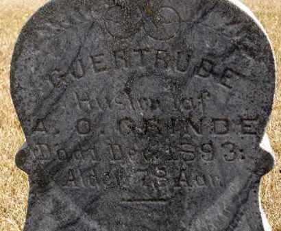 GRINDE, GJERTRUDE - Minnehaha County, South Dakota | GJERTRUDE GRINDE - South Dakota Gravestone Photos
