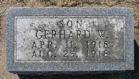 GRINDE, GERHARD W. - Minnehaha County, South Dakota   GERHARD W. GRINDE - South Dakota Gravestone Photos