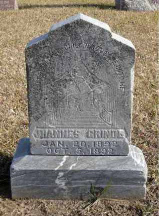 GRINDE, JHANNES - Minnehaha County, South Dakota | JHANNES GRINDE - South Dakota Gravestone Photos