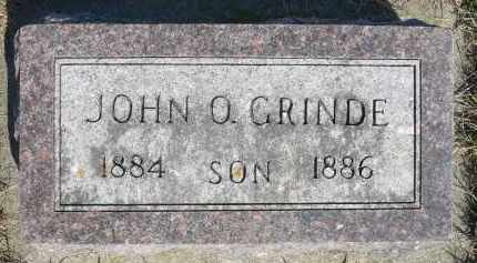 GRINDE, JOHN O. - Minnehaha County, South Dakota | JOHN O. GRINDE - South Dakota Gravestone Photos