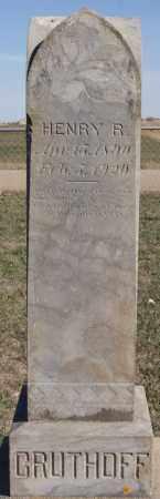 GRUTHOFF, HENRY R - Minnehaha County, South Dakota | HENRY R GRUTHOFF - South Dakota Gravestone Photos