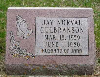 GULBRANSON, JAY NORVAL - Minnehaha County, South Dakota | JAY NORVAL GULBRANSON - South Dakota Gravestone Photos