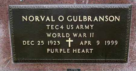 GULBRANSON, NORVAL O. (WWII) - Minnehaha County, South Dakota   NORVAL O. (WWII) GULBRANSON - South Dakota Gravestone Photos