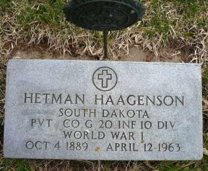 HAAGENSON, HETMAN - Minnehaha County, South Dakota | HETMAN HAAGENSON - South Dakota Gravestone Photos