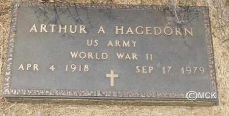 HAGEDORN, ARTHUR A. - Minnehaha County, South Dakota   ARTHUR A. HAGEDORN - South Dakota Gravestone Photos