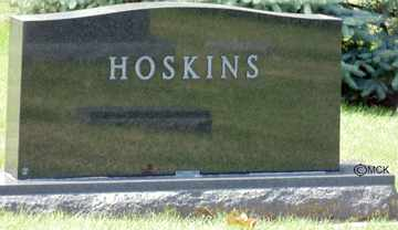 HOSKINS, HEADSTONE - Minnehaha County, South Dakota | HEADSTONE HOSKINS - South Dakota Gravestone Photos